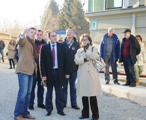 "Mayor of the city Davit Narmania visited finished construction of ""Green House"" before New Year"