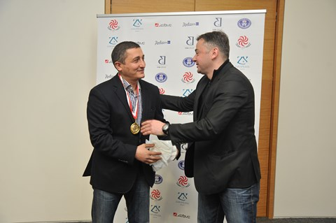 """Tride"" awarded a special prize to the best coach of the year Levan Maisashvili"